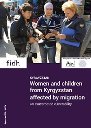 Women and children from Kyrgyzstan affected by migration